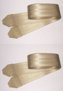 Tan Seat Belt Strap Section Extension 2 X 41 Ends Sewn Usa Made Rated Set Of 2