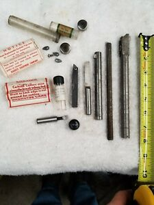 Boring Bar Lot Carbide Inserts 1 4 3 16 Tool Bits Cobalt