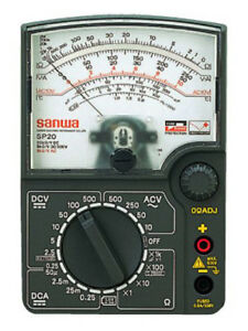 Analog Multimeter Sanwa Sp 20 p F s Import From Japan New W tracking