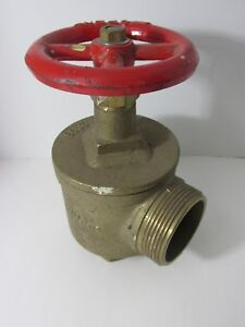 Bh Figa97 Brass Fire Hose Valve 300 2 1 2 Fig A97 Firehose Industrial Decor Red