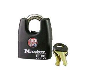 Master Lock 1dex Laminated Steel Pin Tumbler Padlock With Shrouded Shackle