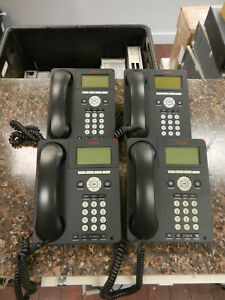 Lot Of 4 Avaya 9620l Ip Digital Office Phones With Handsets Stands Quantity
