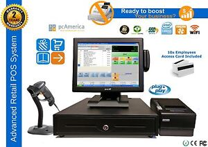 Pcamerica Cre Pro Retail Pos All in one System Complete Station New