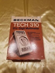 Beckman Tech Digital 310 Multimeter With Probes