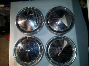 Ford Galaxie Fairlane 10 1 2 Dog Dish Hub Cap Hubcap 1960 1961 1962 1963 Set 4