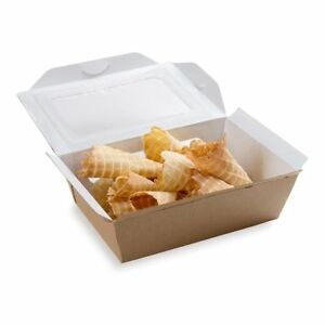 Restaurant Take Out To Go Container 35 Oz Box Cafe Vision 200 Ct No Tax