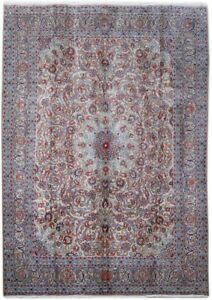 Persian Rug Hand Knotted 10x14 Mashad Signed Distinctive Look Desert Sand Rug