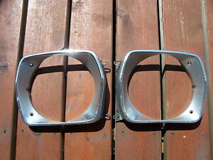 1973 1974 Plymouth Duster Head Light Bezels Oem Scamp Valiant