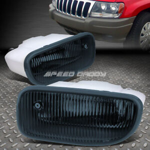 For 99 01 Jeep Grand Cherokee Wj Smoked Lens Oe Bumper Driving Fog Light Lamp