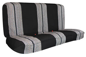 Full Size Car Bench Seat Cover For Chevy Dodge Ford Trucks Front Seat Black