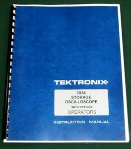Tektronix 7834 Operation Maintenance Manual W11x17 Diagrams Plastic Covers