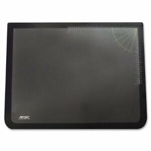 New Artistic 19 X 24 Logo Pad Lift Top Desk Pad Black clear Free Shipping