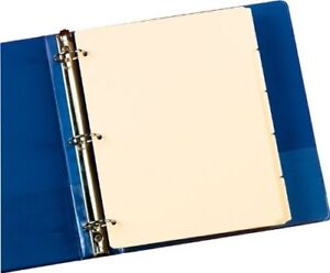 New Oxford Manila Tab Dividers Blank Write On 5 Tab M1158 Free Shipping