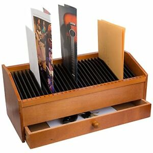 New 31 Slot Wooden Bill letter Organizer With Drawer Free Shipping