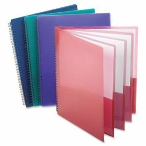 Oxford Poly 8 Pocket Folder Letter Size 9 1 X 10 6 0 4 Colors May Vary 2 Pack