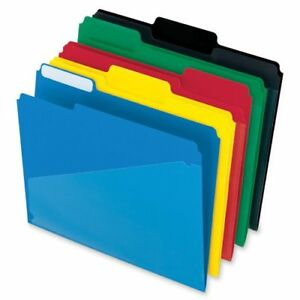 Hot Pocket Poly File Folders 1 3 Cut Top Tab Assorted Colors 25 Per Box 515