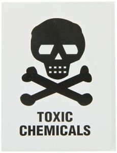 New Brady 596 13 Prinzing Hazard Id Toxic Chemicals W Pic 25 Each Free Shipping