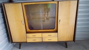 Mid Century 1940 S German Schrank Known As A Shrunk Cabinet China Cabinet