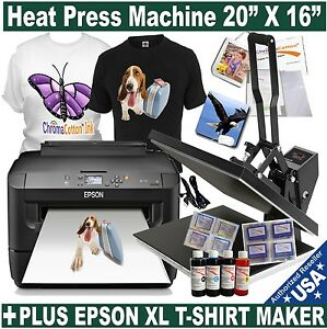 Heat Press Transfer T shirt Sublimation 20 x16 Printer Xl Start Pack