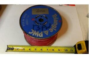 Qty 01 500 Foot 12 Awg Triange Solid Copper Building Wire Red Metal Spool