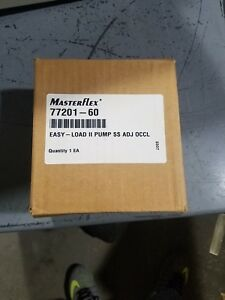 New Cole Parmer Masterflex Pump Head Peristaltic Easy Load Ii Model 77201 60