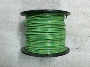 7lbs 8oz Of Encore 14 Awg Green Yellow Stripe Copper Equipment Ground Wire Mtw