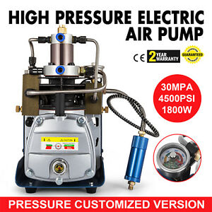 30mpa Electric Air Compressor Pump Pcp Water Cooling 300bar 4500psi 220v 50hz