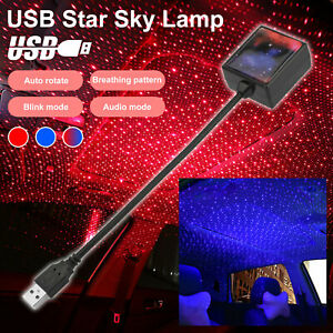 Blue red Usb Car Interior Atmosphere Starry Sky Ambient Star Light Led Projector