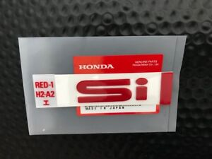 Genuine Oem Honda 88 91 Civic Crx Red Si Rear Badge Emblem Ef8 Ef9