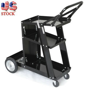 Heavy Duty Welder Welding Cart Plasma Cutter Mig Arc Universal Storage For Tanks