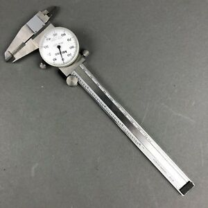 Mitutoyo 505 637 Stainless Steel Dial Caliper 0 6 001 Div