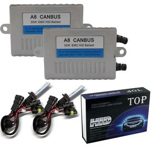 35w Canbus Xenon Hid Kit Conversion H4 H7 H10 H11 9006 Warning Error Canceller