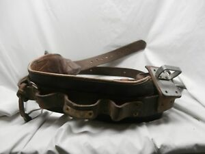 Vintage Bell System Telephone Lineman s Climbing Belt Harness Safety Strap
