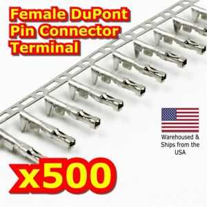 500pcs 2 54mm Dupont Jumper Wire Cable Housing Female Pin Connector Terminal