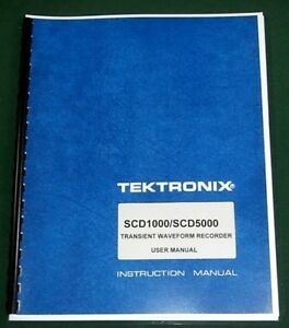 Tektronix Scd1000 scd5000 User Manual Comb Bound Protective Covers