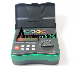 New 4 terminal Earth Resistance And Soil Resistivity Tester Aa1 5v 8 Dy4300a