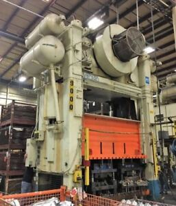 500 Ton Capacity Verson Straight Side Press For Sale