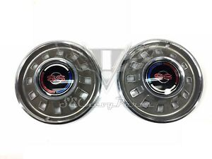 1967 Chevy Nos Impala Ss Hubcaps Pair 67