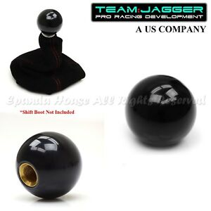 For Camaro Firebird M16 Thread Billiard Gumball Round Gear Shift Knob Black