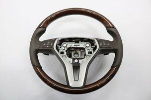 2010 2016 Mercedes C207 W207 E550 E350 Coupe Steering Wheel Leather Wood Oem