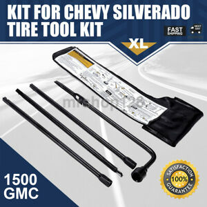 Spare Tire Lug Wrench Jack Tool Kit For Chevy Gmc Cadillac Pickup Truck Suv 2000