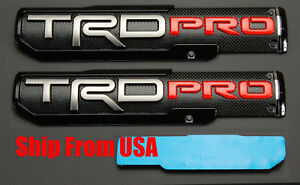 two 10 X 2 25 3d Abs Molded Trd Pro Emblem Nameplate Badge For Toyota Tacoma
