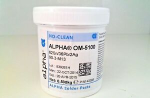 3x 500g Tin Solder Paste 62sn 36pb 2ag Alpha Om 5100 No Clean Soldering Ointment