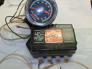 Vintage Sun Super Tach Tachometer With Cup Transmitter For Magnetto 9000 Rpm