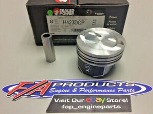 Sealed Power H423dcp Chevy 350 Hypereutectic Coated Dish Pistons Set Of 8