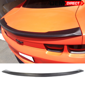 For 10 13 Chevy Camaro Ls Lt Ss Real Carbon Fiber Rear Trunk Spoiler Lip Wing