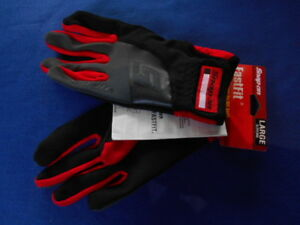 Snap On Mechanics Fastfit Utility High Dexterity Glove300xl Red black X large