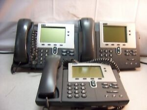 T719 Lot Of 3 Cisco 7940 Series Unified Ip Voip Phones Cp 7940g