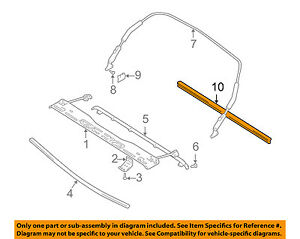 Chevrolet Gm Oem 99 03 Tracker Convertible Soft Top Reinforcement 30022346