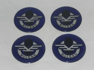 4 Purple Mclean Wire Wheel Rim Center Cap Round Decal Sticker Logo 2 50 63 5mm